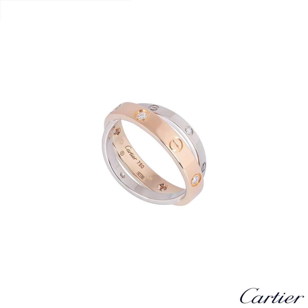 Cartier Bi-Colour Gold Double Love Ring